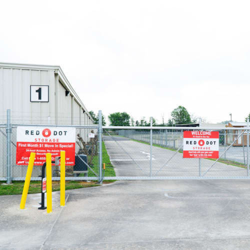 Easy access to Louisville highway at Red Dot Storage in Youngsville, Louisiana