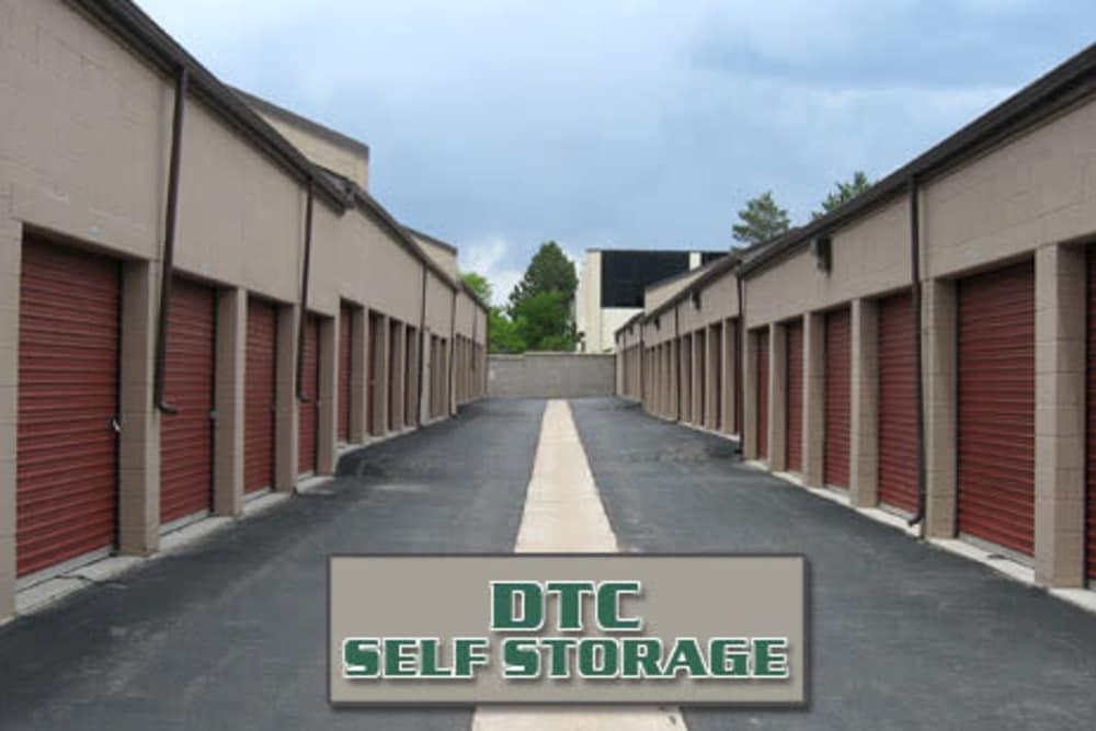 Exterior storage units at DTC Self Storage in Centennial, Colorado