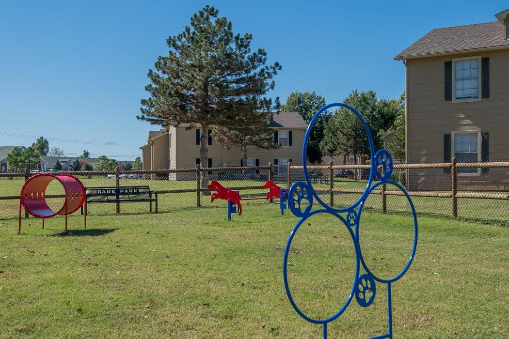 Onsite bark park at Tammaron Village Apartments in Oklahoma City, Oklahoma