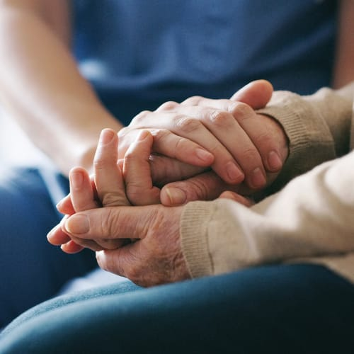 Caregiver and resident at Pinnacle Senior Living