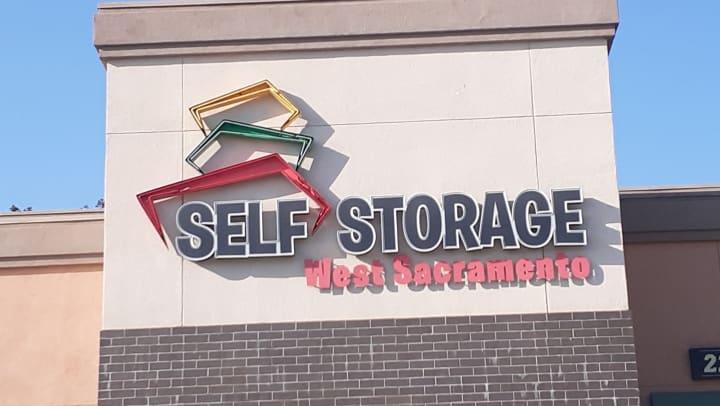 West Sacramento Self Storage Sign
