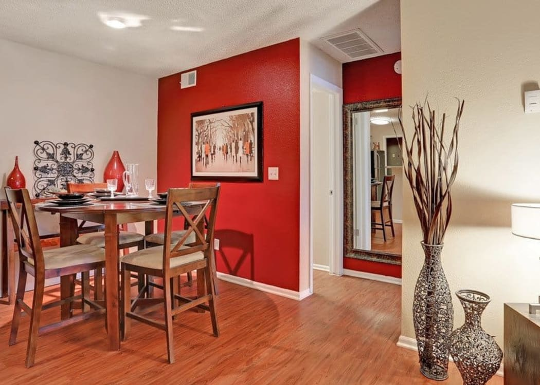 Beautiful dining room at Mountain View Apartment Homes