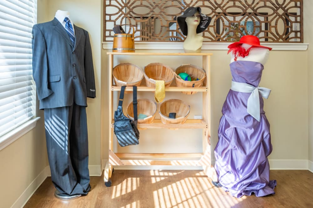 A memory center of clothing at The Harmony Collection at Roanoke - Memory Care in Roanoke, Virginia