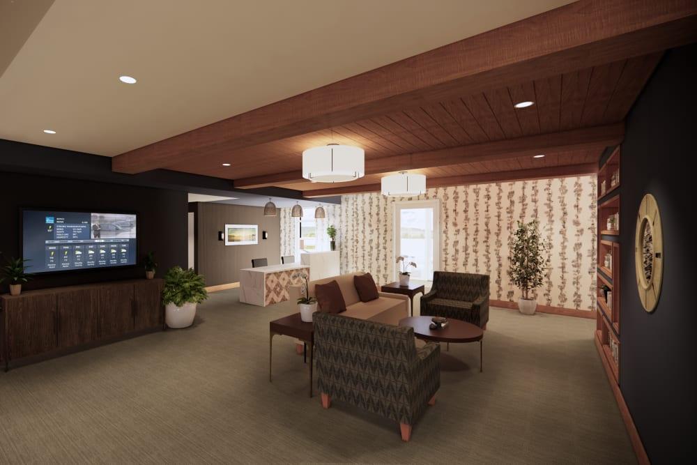 Main lobby at Broadwell Senior Living in Kearney, Nebraska