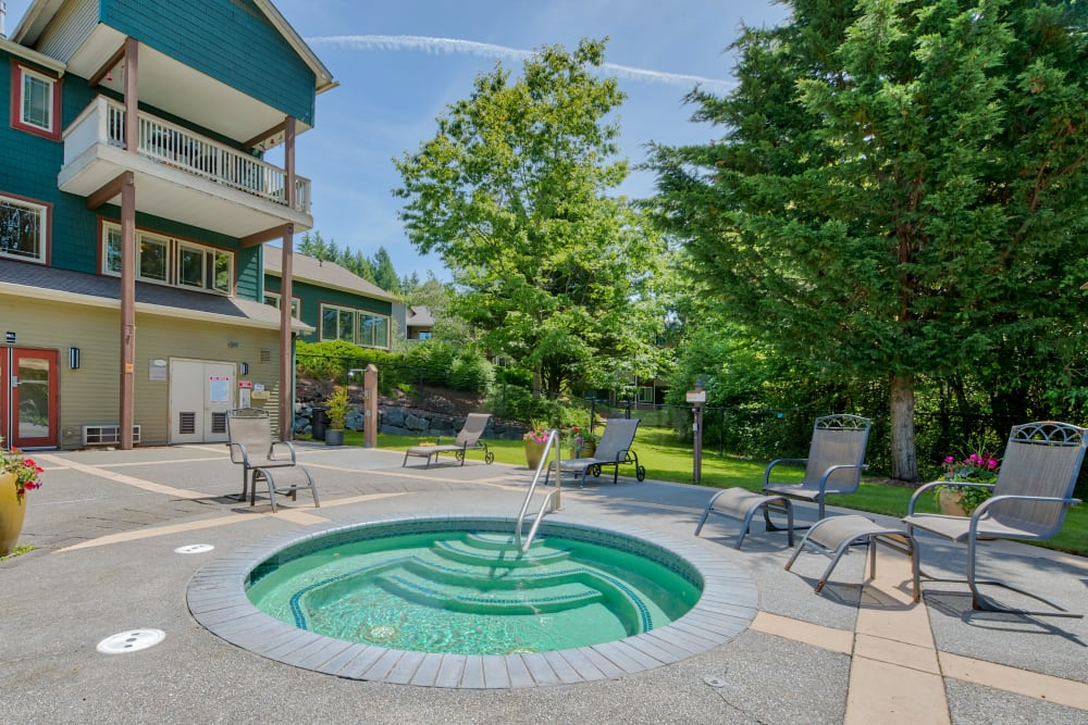 Spa at Aravia Apartments in Tacoma, Washington