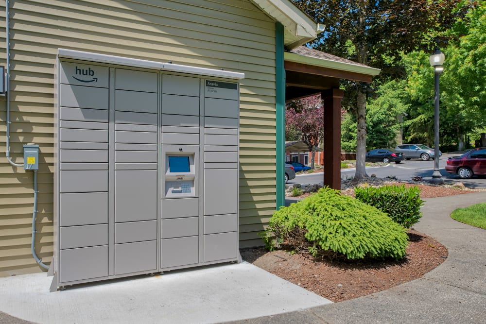 Resident Package Lockers at Aravia Apartments in Tacoma, WA