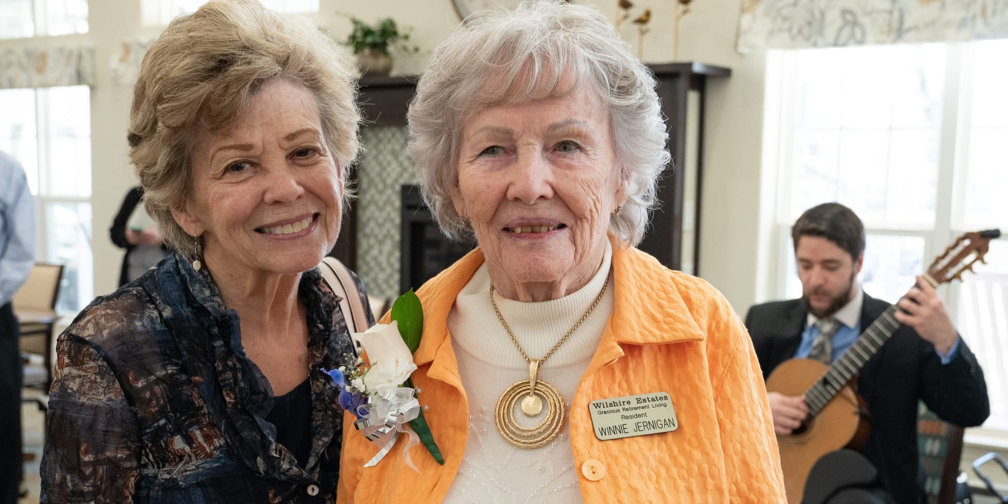Two residents at Wilshire Estates Gracious Retirement Living in Silver Spring, Maryland