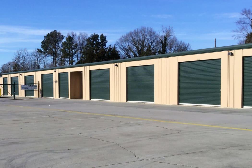 Drive up storage units at Cardinal Self Storage - Graham in Graham, North Carolina