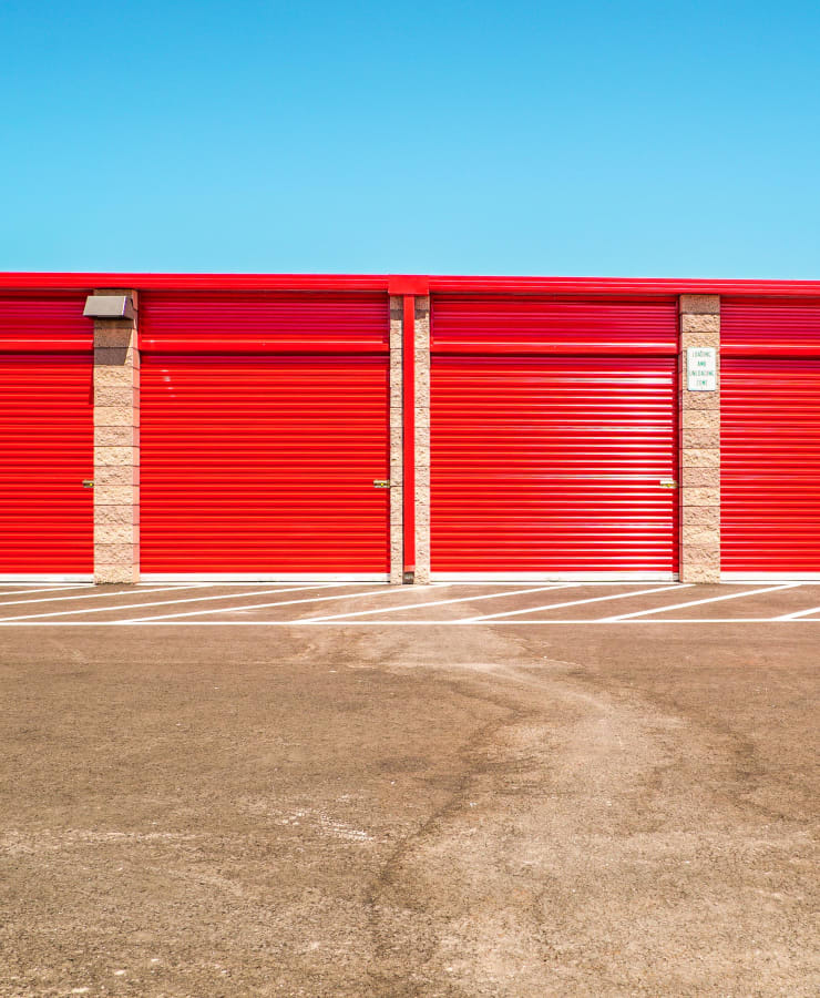 Exterior units at StorQuest Self Storage in Santa Maria, California