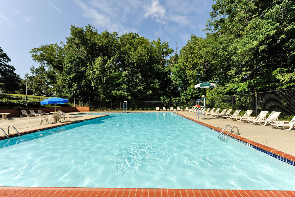 Sparkling pool at Parke Laurel Apartment Homes