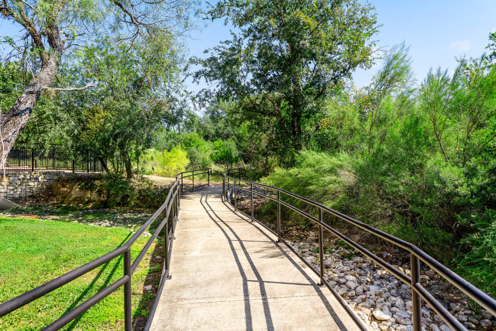 Walking Paths at Villas in Westover Hills in San Antonio, Texas