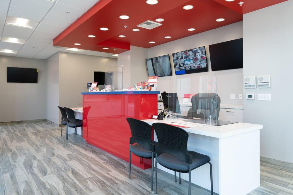 Office interior at Trojan Storage in San Jose, California