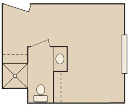 Floor plans B at MuirWoods Memory Care in Petaluma, California