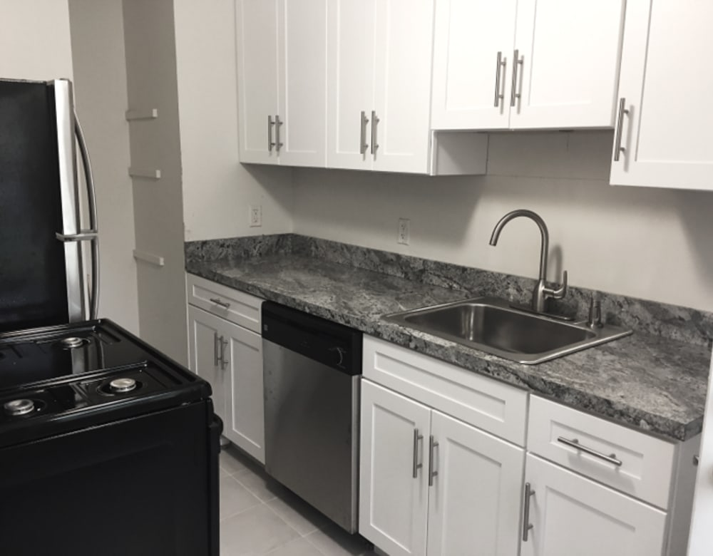 Renovated Kitchen at West Gate Townhomes in New Haven, Connecticut