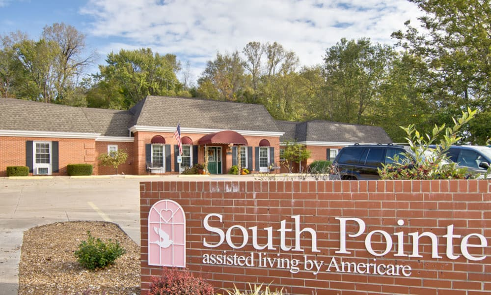 Branding and Signage outside of South Pointe Senior Living in Washington, Missouri