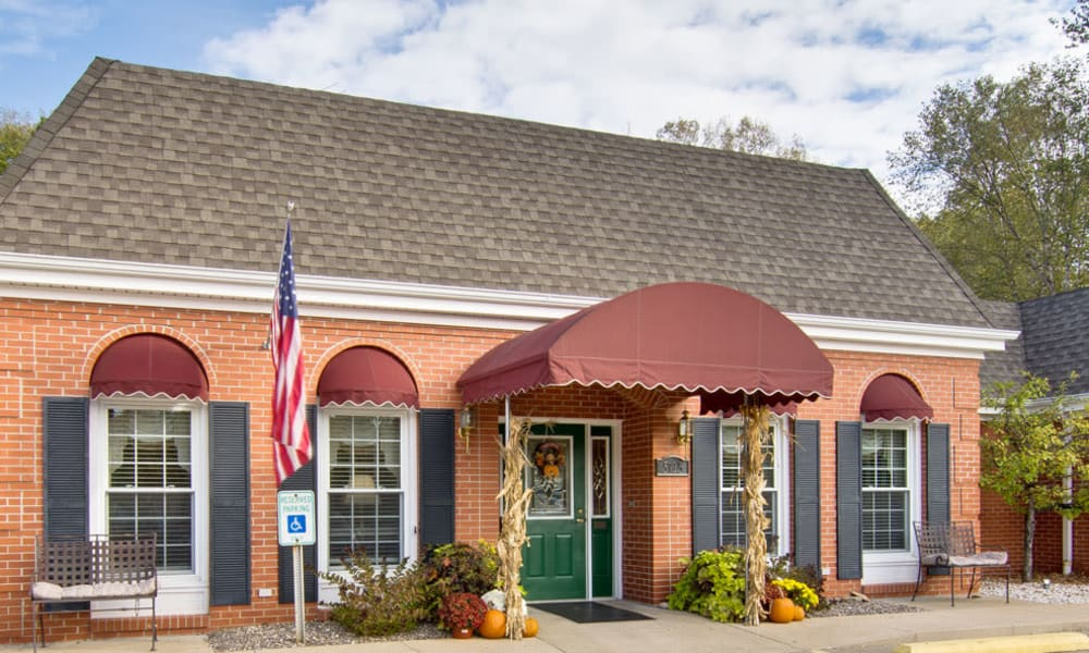 The administration building at South Pointe Senior Living in Washington, Missouri