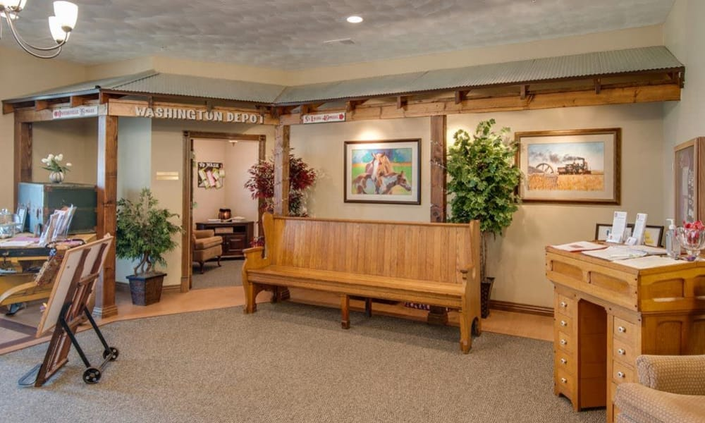 Main office at Victorian Place of Washington Senior Living in Washington, Missouri
