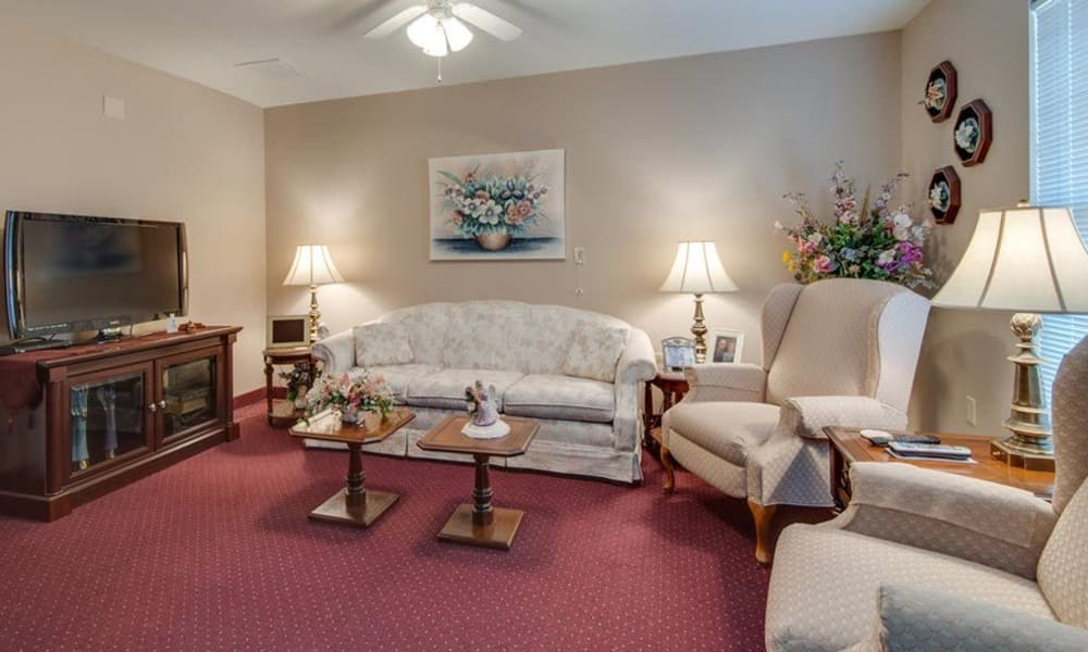 Entertainment room at Victorian Place of Washington Senior Living in Washington, Missouri