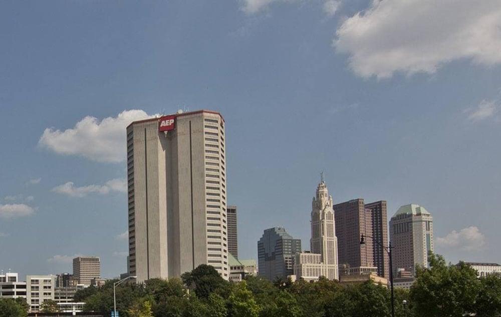 Skyscrapers near Easton Commons in Columbus, Ohio