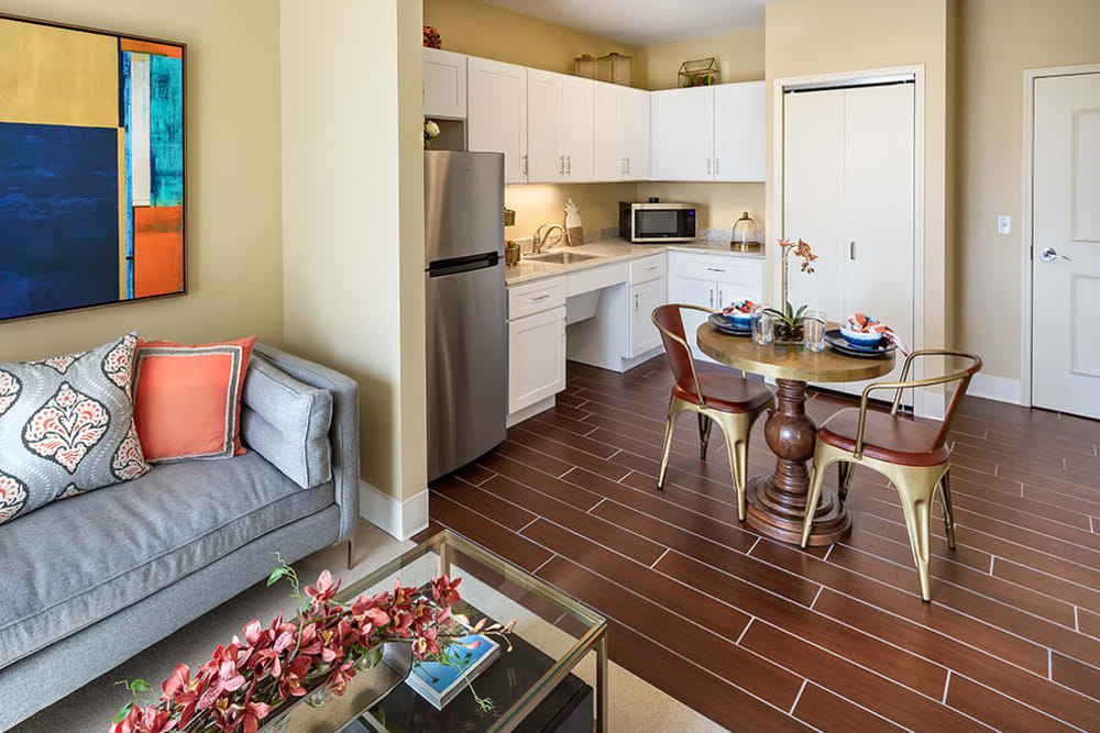 resident living room and kitchen