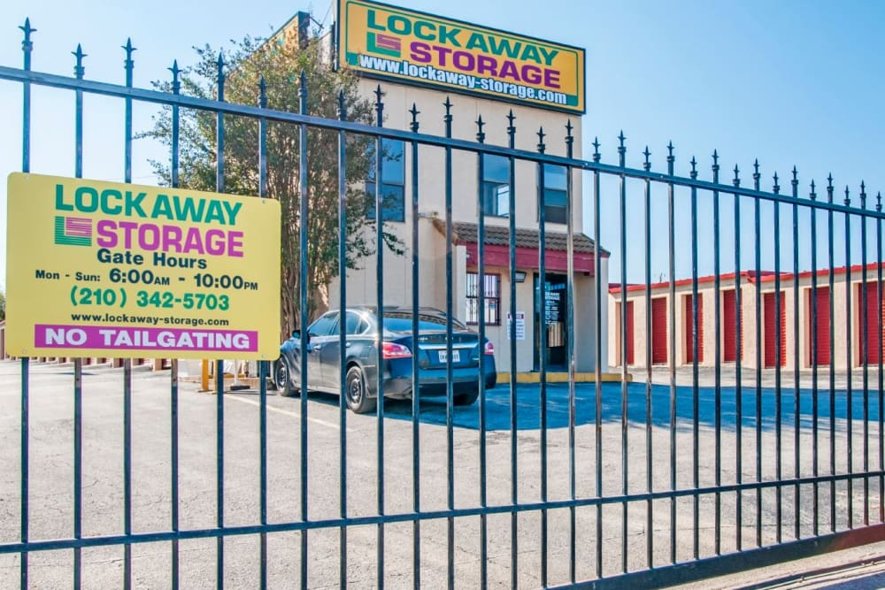 Front Office and Gate Exterior at San Antonio, Texas near Lockaway Storage