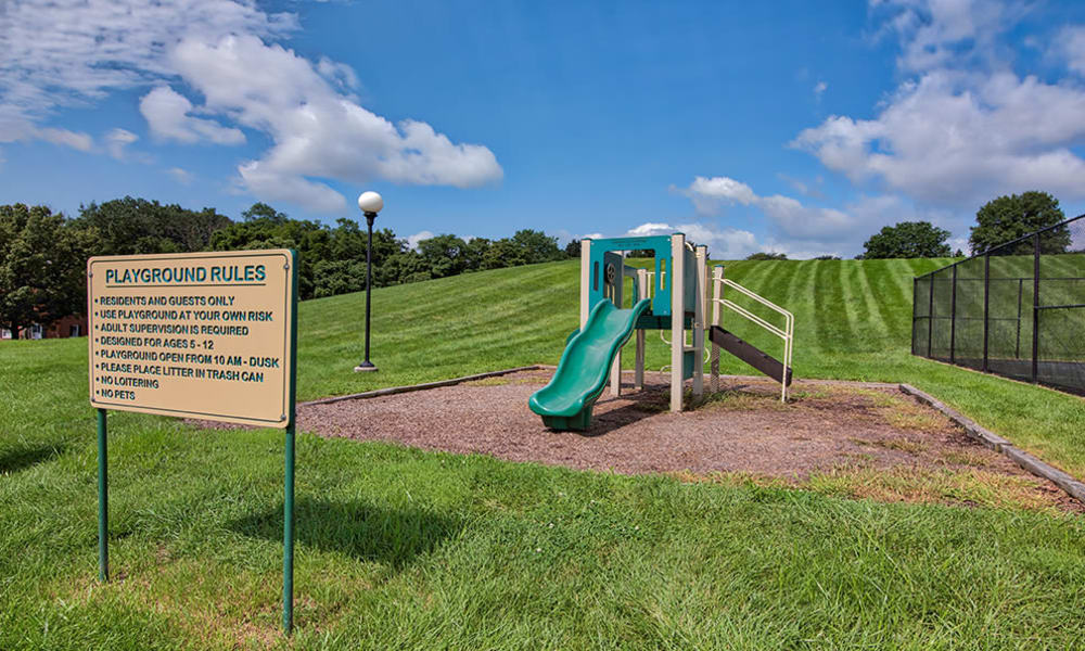 Great playground at The Village of Laurel Ridge & The Encore Apartments & Townhomes in Harrisburg, Pennsylvania