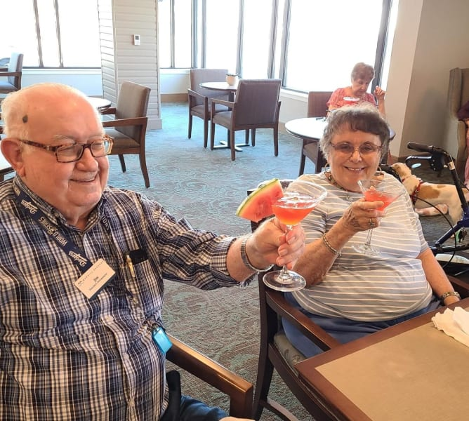 A few residents sat back and enjoyed the watermelon martinis made by our amazing kitchen staff.