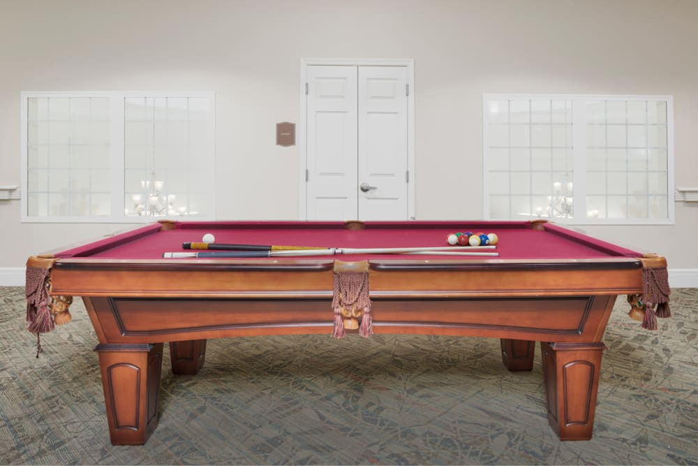 Billiards room at Harmony at Chantilly in Herndon, Virginia