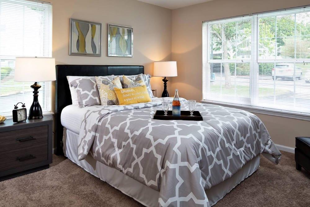 A spacious model bedroom at Summit at Mill Ridge in East Haven, Connecticut