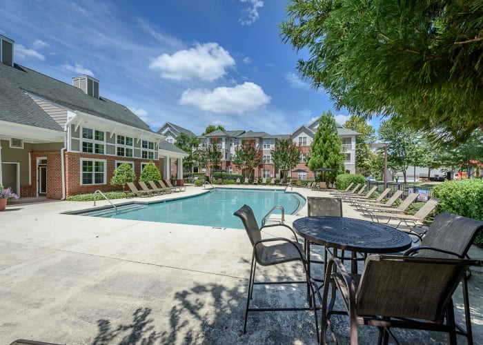 Heather Park Apartment Homes offers a swimming pool in Garner, NC