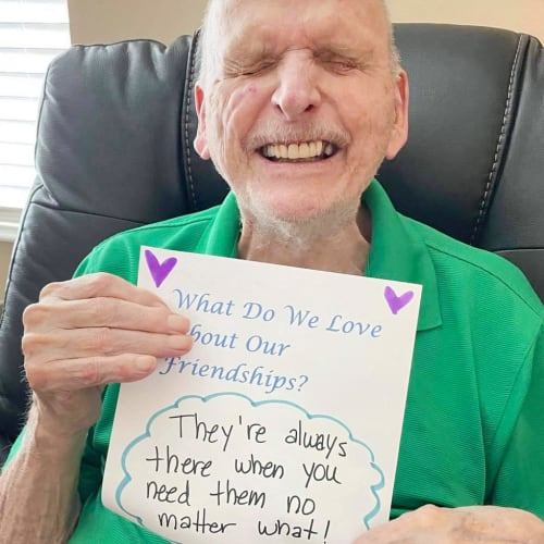 Happy resident at The Oxford Grand Assisted Living & Memory Care in Kansas City, Missouri