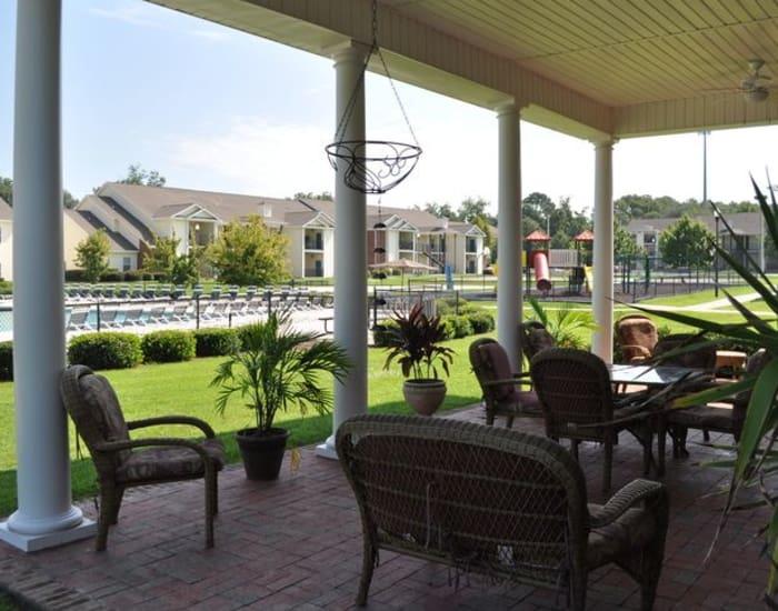 Backyard view at Northwind Apartments in Valdosta, Georgia