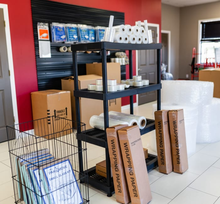 Packing supplies for sale at Storage Landing in Buda, Texas