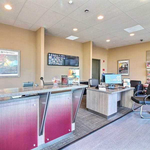 Interior of the office at StorQuest Express Self Service Storage in Cape Coral, Florida