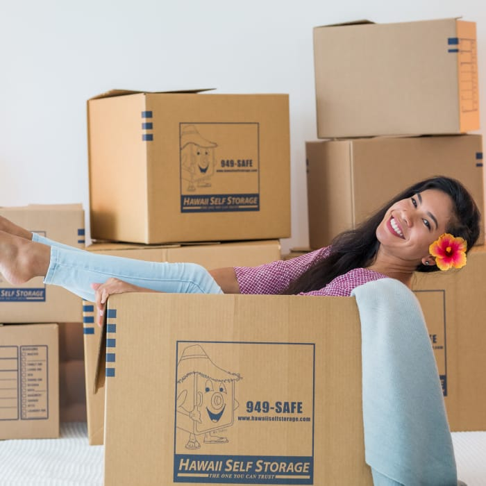 Boxes, locks, and more can be purchased in the office at Hawai'i Self Storage locations