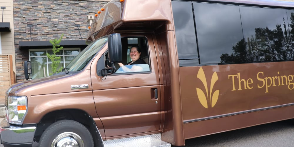 Deluxe and comfortable transportation at The Springs at Sherwood in Sherwood, Oregon