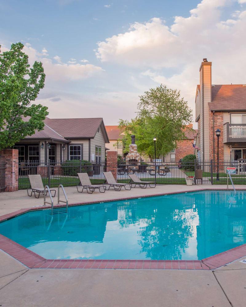 Resort style pool at Huntington Park Apartments in Wichita, Kansas