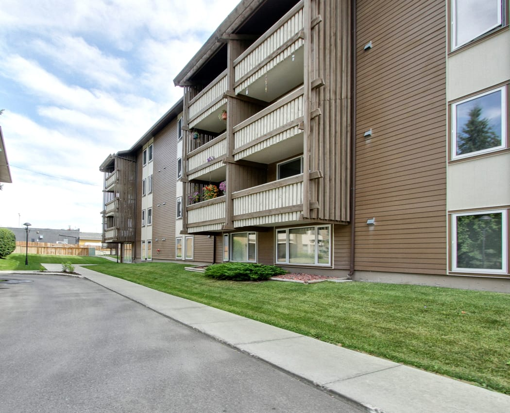 Exterior view of Lakeview Mews in Calgary, AB