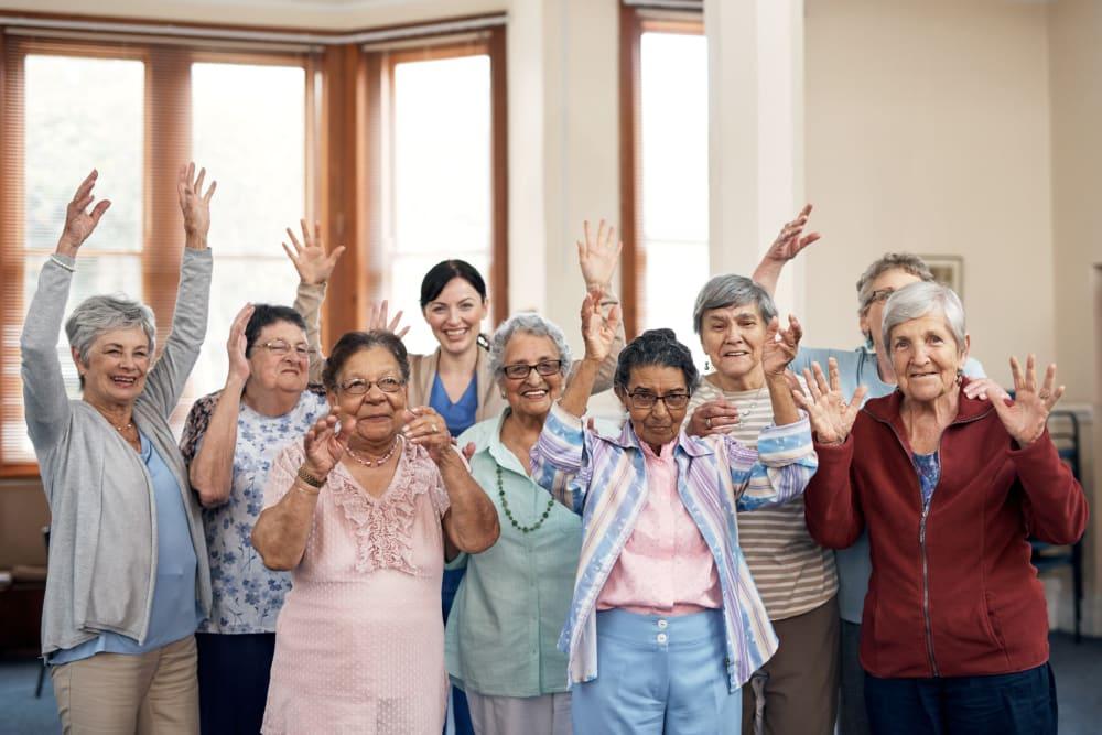 Group photo of residents at Broadwell Senior Living in Kearney, Nebraska
