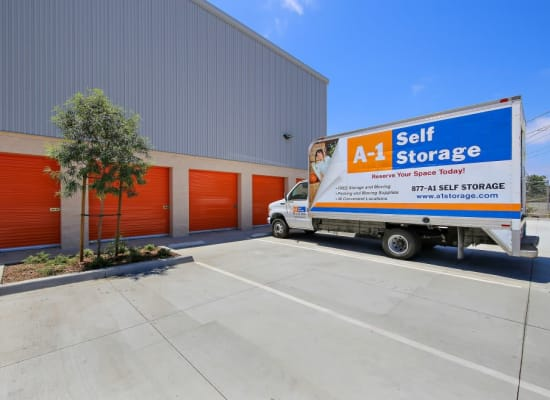 Moving truck available at A-1 Self Storage in San Diego, California