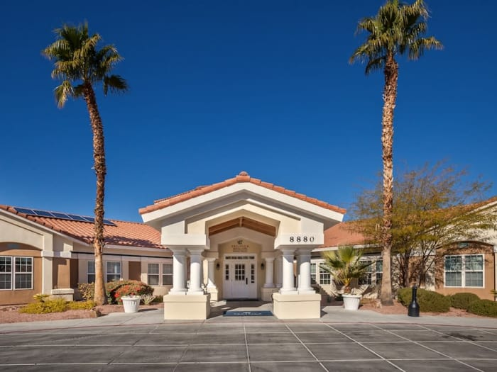 entrance to Pacifica Senior Living Spring Valley in Las Vegas, NV