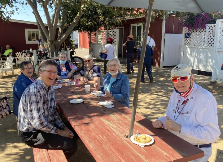 Residents at Monterey (CA) enjoy a nice fall day out at the ranch.