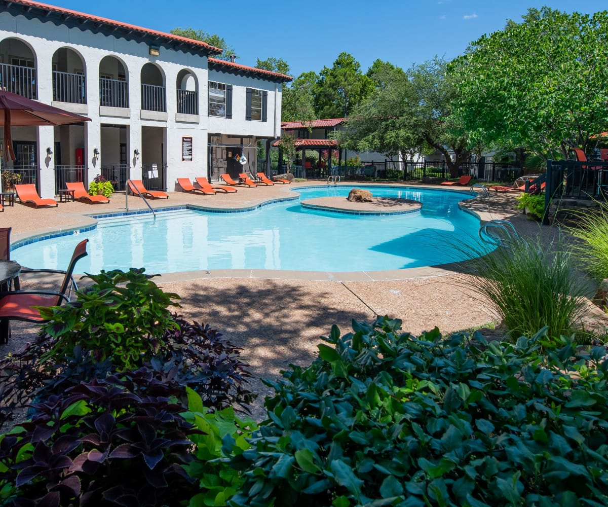 Beautiful pool at Barcelona Apartments in Tulsa, Oklahoma