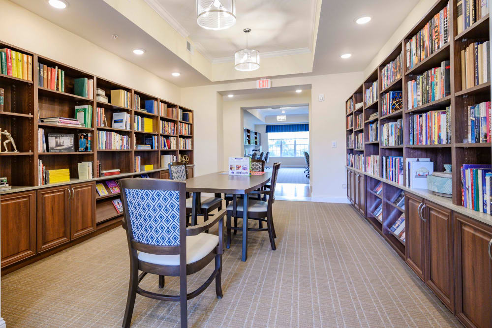 A library for residents at Harmony at Victory Station in Murfreesboro, Tennessee
