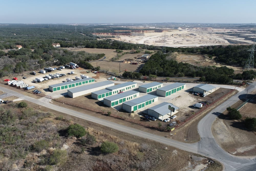 Aerial View of Lockaway Storage in San Antonio, Texas