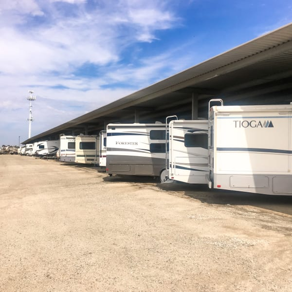 Covered RV and boat parking at StorQuest Self Storage in Chandler, Arizona