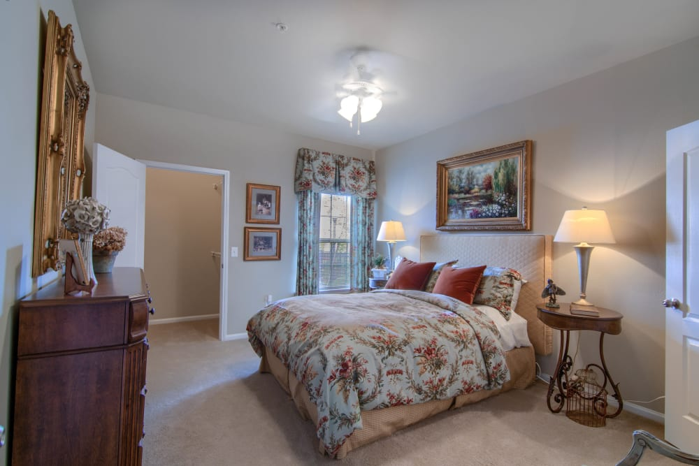 Large, spacious bedroom at Reserve at Long Point in Hattiesburg, Mississippi