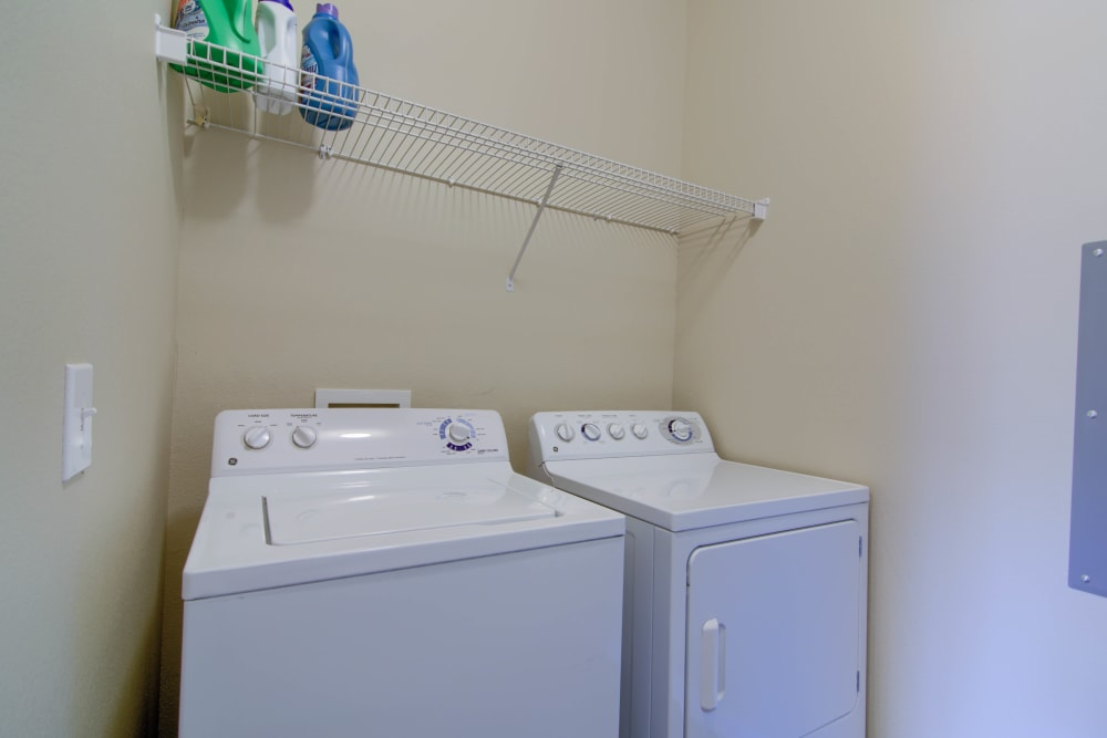 Washer and dryer  at Reserve at Long Point in Hattiesburg, Mississippi