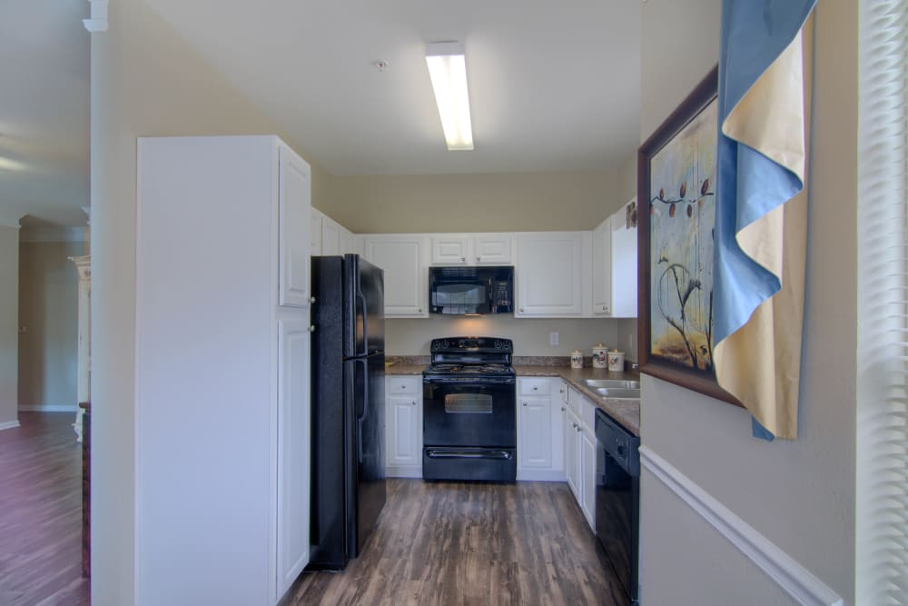 Kitchen with appliances at Reserve at Long Point in Hattiesburg, Mississippi
