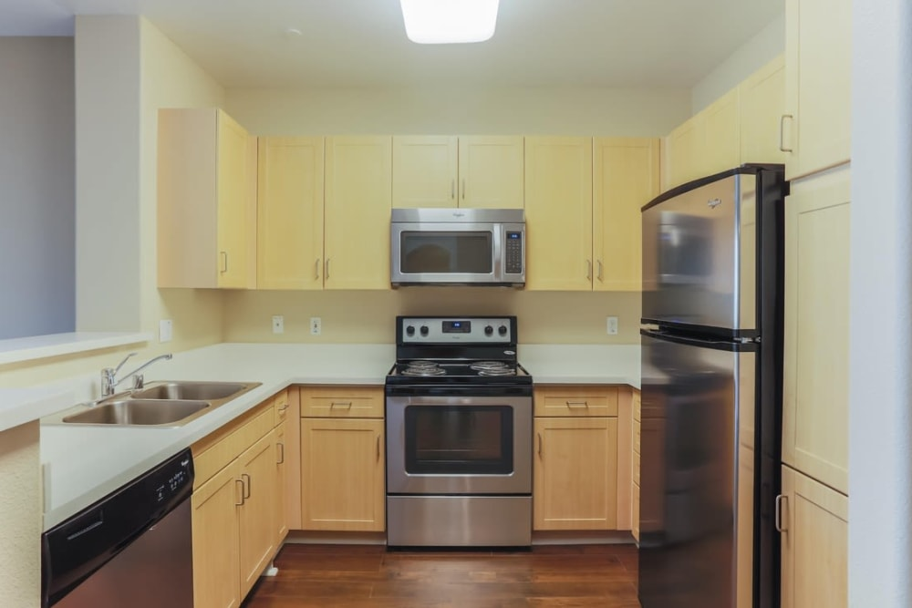 Apartment kitchen at Park Central in Concord, California